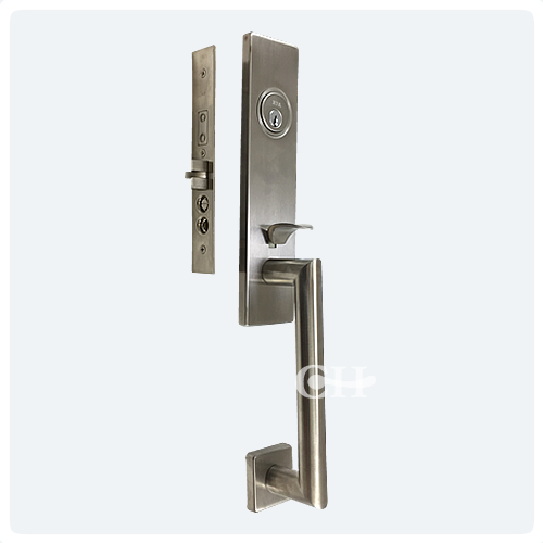 american front door handles are popular in the uk the entry sets combine traditional thumb latch operation on the outside with easy to operate