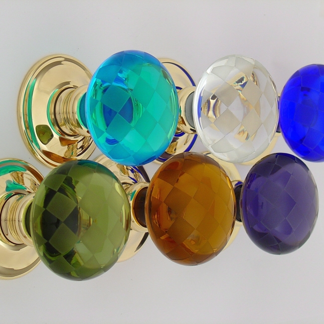 A Beautiful Range Of British Handmade Coloured Or Clear Glass Door Knobs And Cupboard With Nickel Brass Antique Bronze Roses