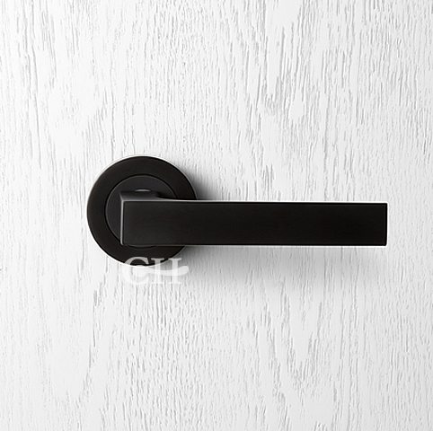 Beautiful Handmade Premium Quality Lever Handles On Rose In Black Opaque  From Pittella. We Are The Official UK Distributor.