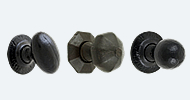 Mortice Knobs Black