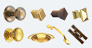 Brass and Bronze Cupboard Handles