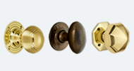 Brass and Bronze Mortice Door Knobs