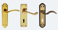 Brass and Bronze Handles On Backplate