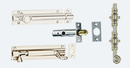 Door Bolts Nickel Stainless Chrome