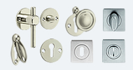 Escutcheons & Bathroom Turns Nickel & Chrome