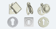Stainless Steel Nickel & Chrome Escutcheons