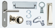 Front Door Furniture Stainless Nickel Chrome