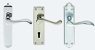 Stainless Steel Nickel & Chrome Handles On Backplate