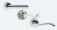 Stainless Steel & Chrome Handles On Rose