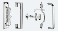 Pull Handles & Thumb Latches Nickel & Chrome