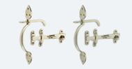 Nickel & Chrome Thumb Latches