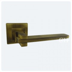 Aldaba Innova Square Cross Lever Handles in Antique Bronze