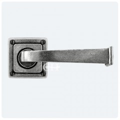 Finesse Design Pewter Allendale Door Handles on Square Rose