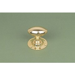 Polished Brass Oval Mortice Door Knobs