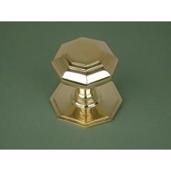 centre door knob brass