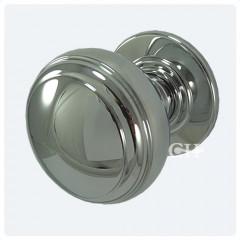polished chrome door knobs