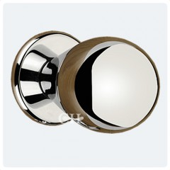 modern doorknobs in polished chrome