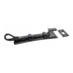 Necked Door Bolt Black 160mm