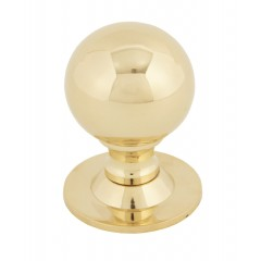 Ball Cupboard Knobs Polished Brass