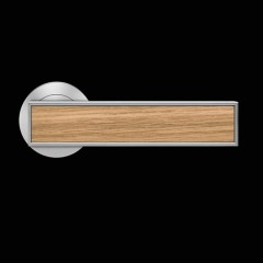 Karcher Torino Satin Nickel Lever Handles With Various Inlays
