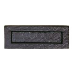 black antique letter plate