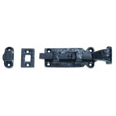 black straight door bolt