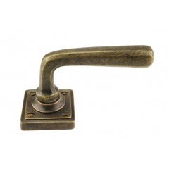 bronze lever handles on square rose