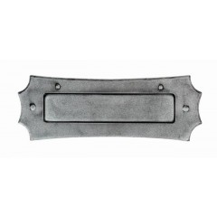 Decorative Pewter Letter Plate