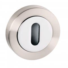 dual finish nickel and chrome keyhole