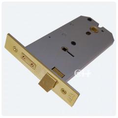 union horizontal bathroom lock polished brass