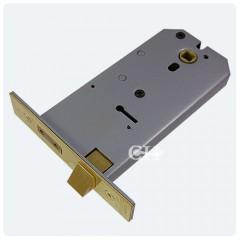union horizontal lock polished brass