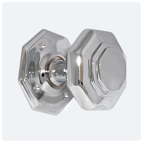 Octagonal Knob In Chrome