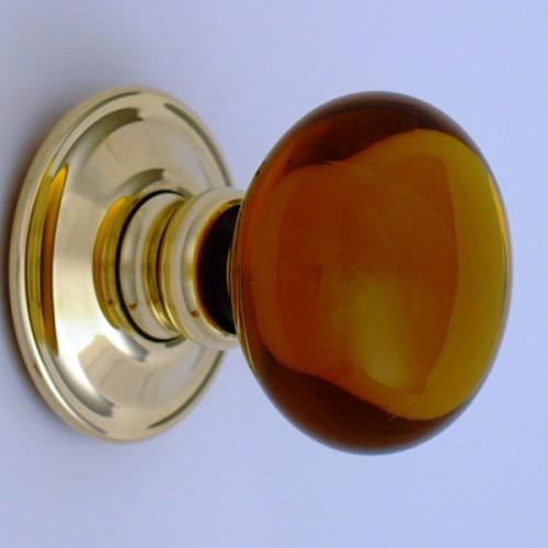 Amber Glass Door Knobs Mortice Or Rim | Door handles & door ...
