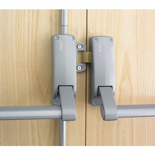 Briton 377e Double Panic Bolt Set In Silver And Stainless