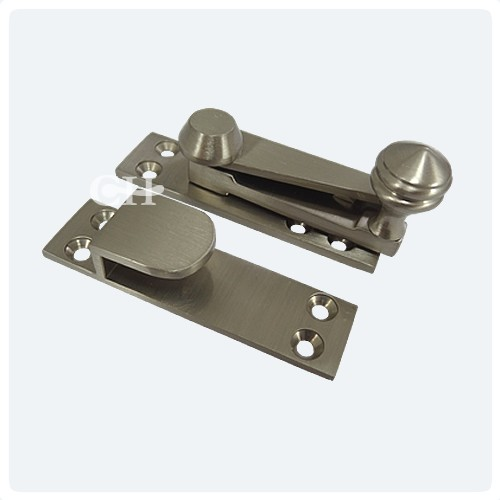 QUADRANT LEVER ARM TYPE  satin chrome  SASH  Window Catch//Latch Slide Lock