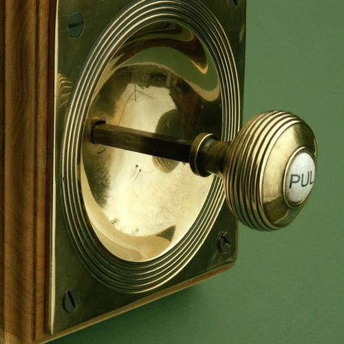Claverley Door Bell Pull in Brass and Porcelain from Cheshire ...