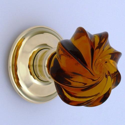 Amber Whirl Door Knobs Mortice Or Rim | Door handles & door ...
