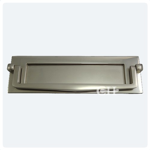 Croft 1643 Letter Plate With Knocker In Chrome Or Nickel