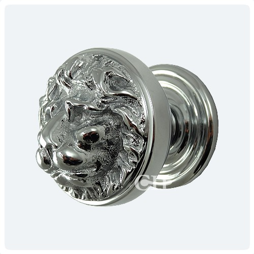 Croft 1734 Lions Head Centre Door Knobs in Chrome or Nickel from ...