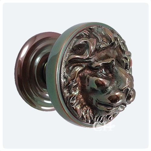 Croft 1734 Lions Head Centre Door Knob Pull In Brass Or