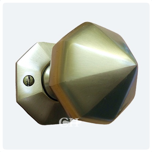 Croft 1751 Octagonal Mortice Door Knobs Brass or Bronze Chrome Or