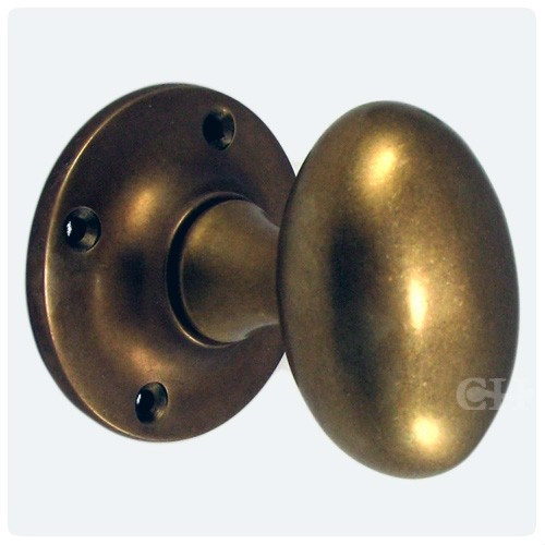 Croft 1754R Oval Rim Door Knobs in Brass Bronze Chrome or Nickel ...