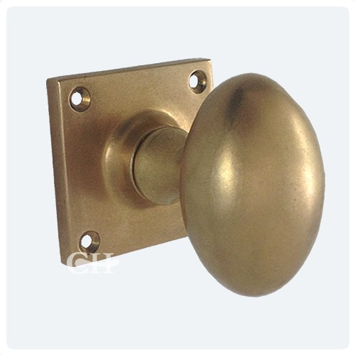 Croft 1754SQ Oval Mortice Door Knobs On Square Rose in Brass Bronze ...