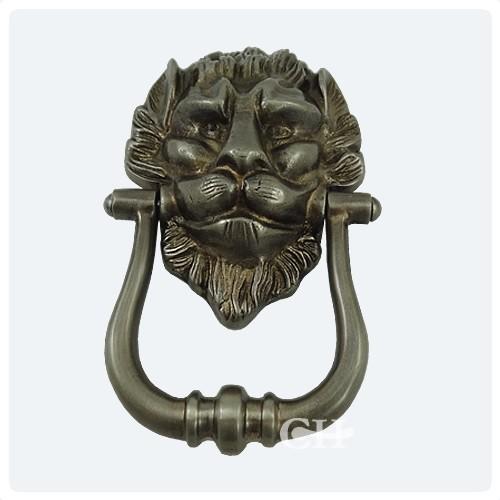 Croft 1768 lions head door knocker nickel chrome bronze or brass finishes from cheshire - Nickel door knocker ...