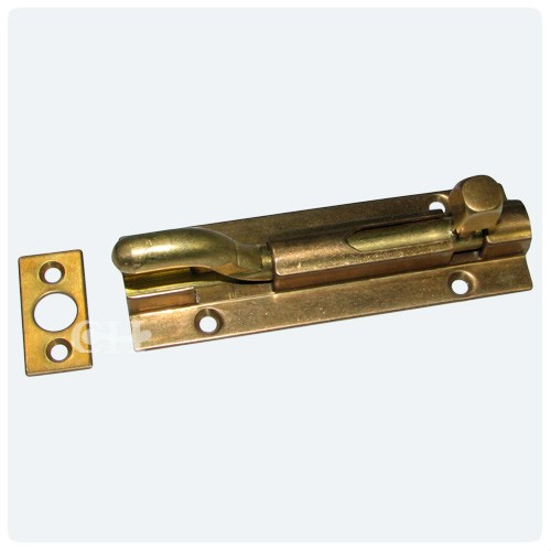 Aged Brass; Distressed Antique Brass - Croft 1801N Bronze Or Brass Necked Barrel Bolts From Cheshire