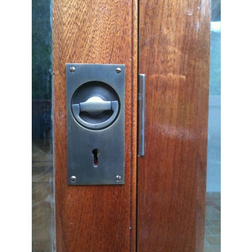 Flush Door Handles : Croft door flush ring handles in chrome or