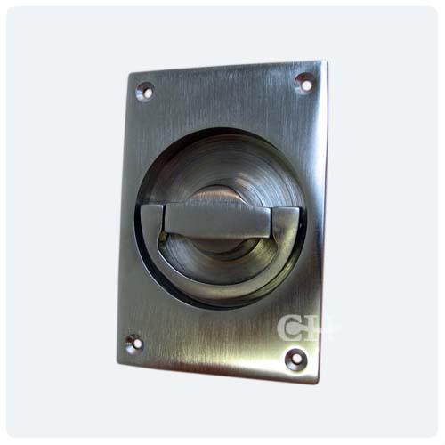 Flush Door Handles : Croft a door flush handle in chrome and nickel