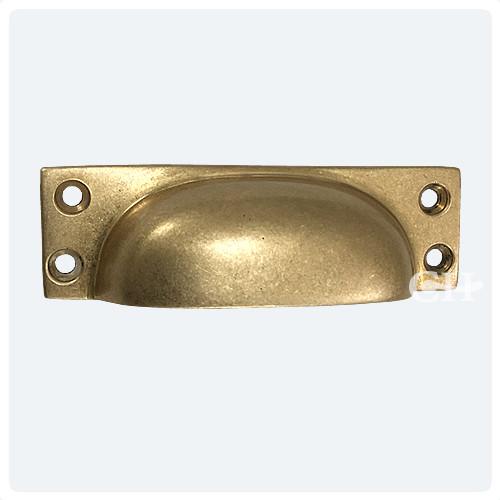 Croft 1821 Cast Drawer Cup Handles In Brass Bronze Chrome