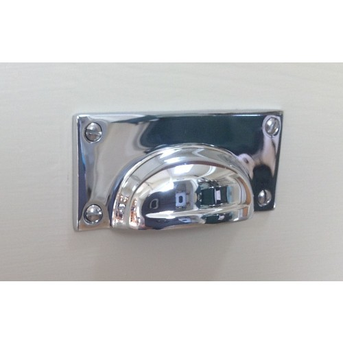Croft 1823 Cast Drawer Cup Handles In Chrome Or Nickel