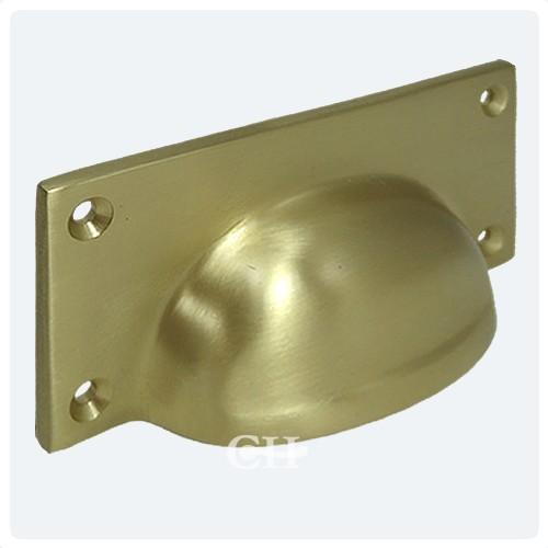 satin brass drawer handles